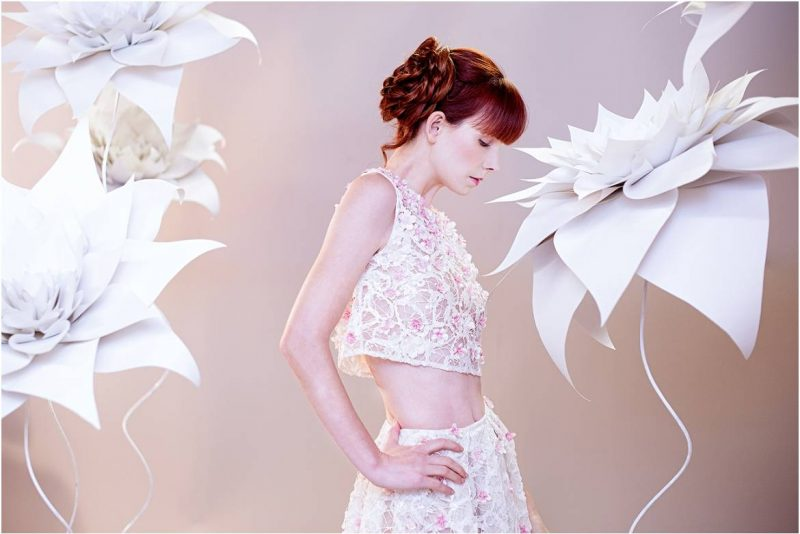 Origami Blossoms : Artistic Bridal Fashion Series